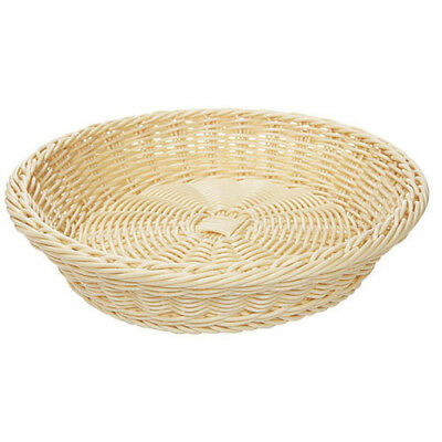"G.E.T. WB-1502-G Poly Woven Basket Round, 11-1/2"" Diam.x2-3/4""H, Green"