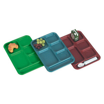 """Cambro PS1014437 Compartment Cafeteria Tray Co-polymer, 10""""Wx14-1/2""""H, Green"""