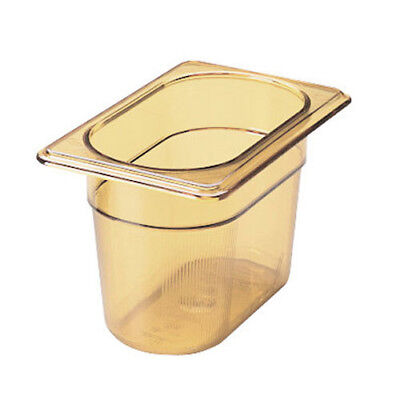 Rubbermaid FG201P00AMBR Ninth Size Multi-Use Hot Food Pan, 15/16 Quart, Amber