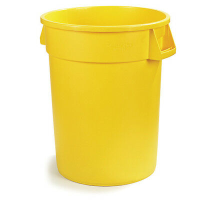 Carlisle 34104404 Round Waste Container - 44 Gallon Cap., Yellow