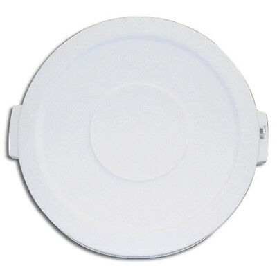 Carlisle 34102102 Flat Lid for Round Bronco Waste Container 269-601, White