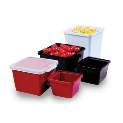 G.E.T. Enterprises ML-148-R Melamine Salad Crock - Square 28 oz. Cap., Black