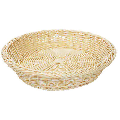 "G.E.T. WB-1502-N Poly Woven Basket Round, 11-1/2"" Diam.x2-3/4""H, Natural"