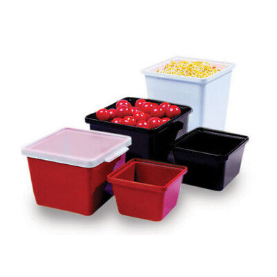 G.E.T. Enterprises ML-148-R Melamine Salad Crock - Square 28 oz. Cap., Red