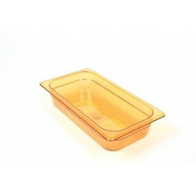 Rubbermaid FG216P00AMBR Third Size Multi-Use Hot Food Pan, 2-5/8 Quart, Amber