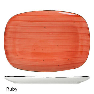 "Rotana Oblong Platter, 12""Wx9""D, Ruby, 12/CS"