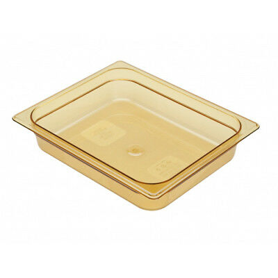Rubbermaid FG223P00AMBR Half Size Multi-Use Hot Food Pan, 4 Quart, Amber