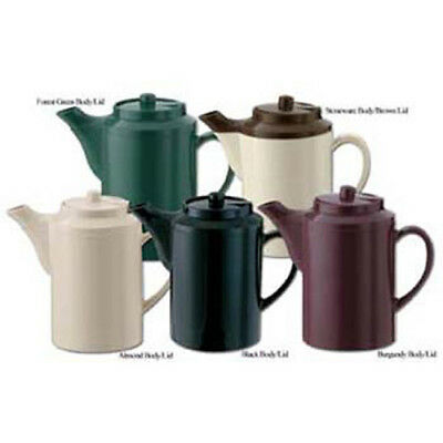 Service Ideas TS-612-ST/BR Teapot with Lid - Solid Color, Stoneware Brown