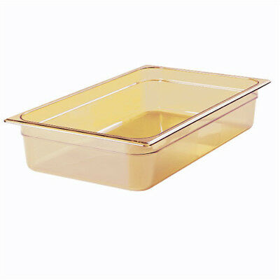 Rubbermaid FG230P00AMBR Full Size Multi-Use Hot Food Pan, 9 Quart, Amber