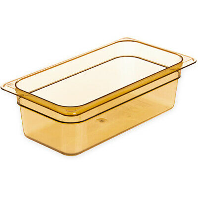 Rubbermaid FG217P00AMBR Third Size Multi-Use Hot Food Pan, 4 Quart, Amber