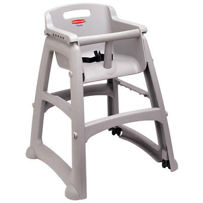 Rubbermaid Sturdy Chair Youth Seat with Microban, Plastic with Casters