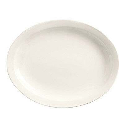 World Tableware Classic Plain Bright White China - Platter, Wide 13-3/4""