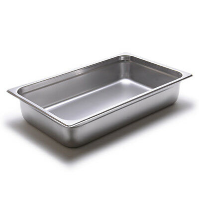 """Steam Table Pan - 24 Gauge, Stainless Steel Full-Size, 4""""H"""