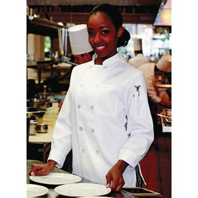 JRC Ritz Foodservice 0475-2504 Womens Chef Coat - White, Size Large