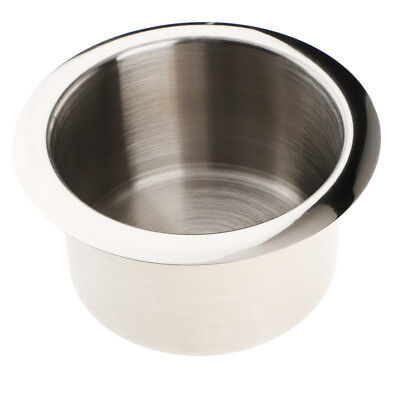 Stainless Steel Cup Drink Holder for Marine Auto Truck Camper RV Polished