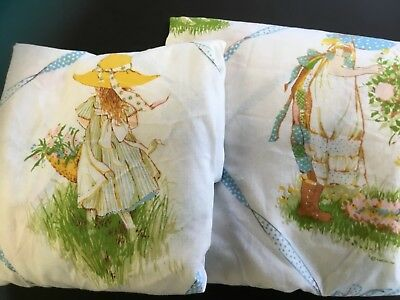 Vintage Springmaid Holly Hobbie twin Fitted  & Flat Sheets