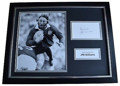 JPR Williams Signed Framed Photo Autograph 16x12 display Wales Rugby Union COA