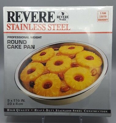 Revere Revere Ware Stainless Steel 60068 9 x 1 1/2 Professional Round Cake Pain