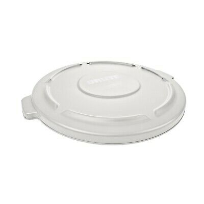 Rubbermaid FG260900WHT Flat Lid For Round Brute Container 972-017, White