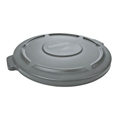 Rubbermaid FG261960GRAY Flat Lid For Round Brute Container, Gray