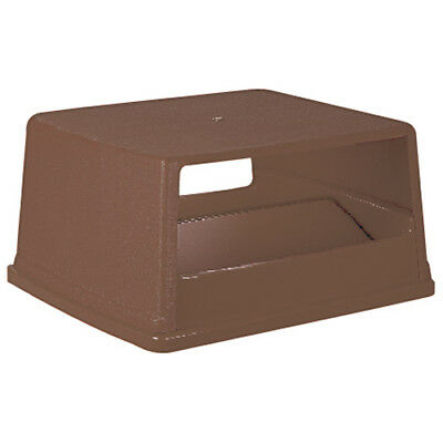 Rubbermaid FG256X00BRN Lid with Door For 56 Gallon Container, Brown