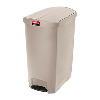 Rubbermaid Slim Jim 90L/24G End-Step Step-On Waste Bin, Black