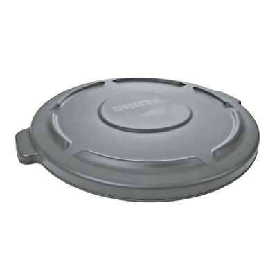 Rubbermaid FG261960WHT Flat Lid For Round Brute Container 972-003, White
