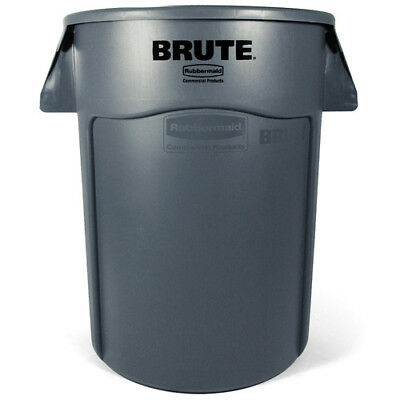 Rubbermaid FG263200GRAY Round Brute Container, 32 Gallon Cap., Gray