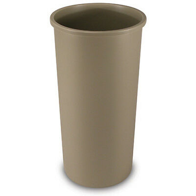 Rubbermaid FG354600BEIG Untouchable Container Round, 22 Gallon Cap., Beige