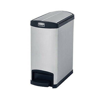 Rubbermaid 1901989 Slim Jim 30L/8G Metal End Step Step-On Waste Bin