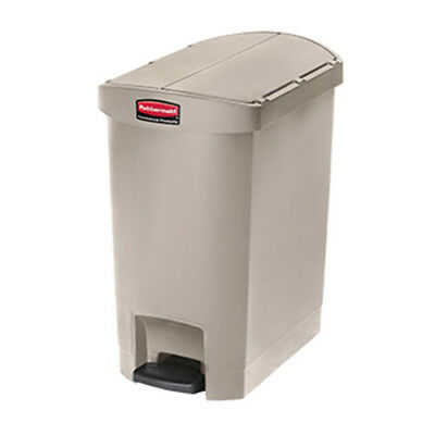 Rubbermaid Slim Jim 30L/8G End-Step Step-On Waste Bin, White
