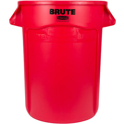 Rubbermaid FG263200RED Round Brute Container, 32 Gallon Cap., Red