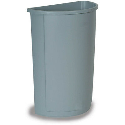 Rubbermaid FG352000GRAY Untouchable Container Half Round, 21 Gallon Cap., Gray