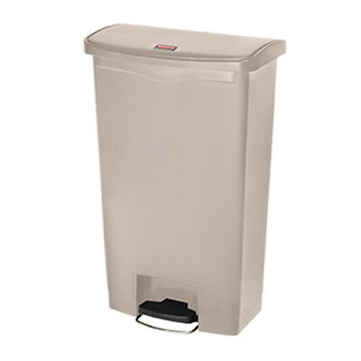 Rubbermaid Slim Jim 68L/18G Step Waste Bin, White