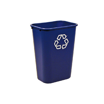 Rubbermaid FG295773BLUE 41 Quart Cap. Recycle Wastebasket
