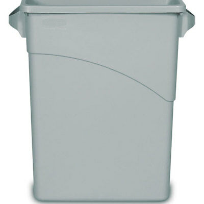 Rubbermaid FG354100GRAY Slim Jim Container 16 Gallon, With Handles, Gray