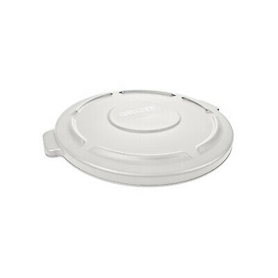 Rubbermaid FG263100WHT Flat Lid For Round Brute Container 972-001, White