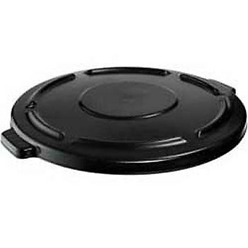 Rubbermaid FG264560BLA Self-Draining Lid For Round Brute Containers, Black