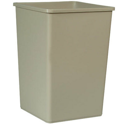 Rubbermaid FG395800GRAY Untouchable Container Square, 35 Gallon Cap., Gray