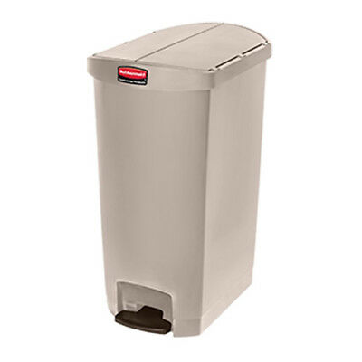 Rubbermaid Slim Jim 68L/18G End-Step Step-On Waste Bin, White