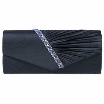 Ladies Diamond Ruffle Party Prom Bridal Evening Envelope Clutch Bag, LY6682 A1H6