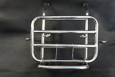 VESPA PX T5 LML Front Folding Luggage Rack Stainless Steel.