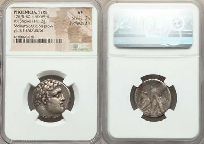PHOENICIA. Tyre. Ca. 126/5 BC-AD 67/8. AR shekel (22mm, 14.12 gm, 2h). NGC VF