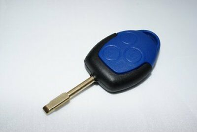 New Autowave Ford Transit 2006-2014 MK7 3 Button Blue Remote Key Fob With Blade
