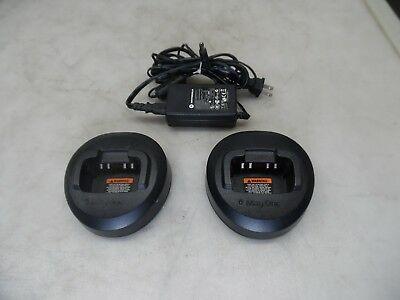 Lot Of 2 Motorola BPR40 Mag One Single Unit Rapid Rate Chargers PMLN5041A