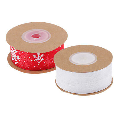 10 Meters Mesh Snowflake Ribbon Lace Trim Applique for Xmas Gift Wrapping