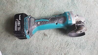 Makita BGA452 LXT 18V Li-ion Cordless Angle Grinder Cut-Off Tool And Battery 3ah
