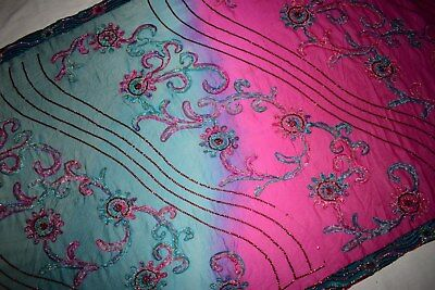 Vintage Ethnic Dupatta Embroidered Wedding Chunni Traditional Veil Stole Hijab L