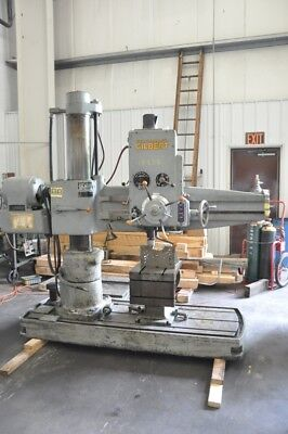 "1954 4' X 9"" Cincinnati Gilbert 3B Radial Arm Drill Coolant Pump and Piping"