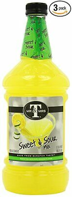LOT OF 3-Mr.&Mrs.T's Sweet&Sour Mix, 59.2 Ounce Bottles-FREE SHIPPING